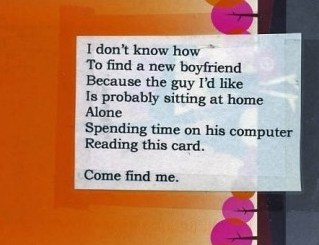 Funny message from a woman or boy :)